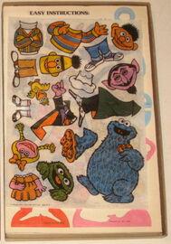 Colorforms 1978 sesame rub n play magic transfer set 2