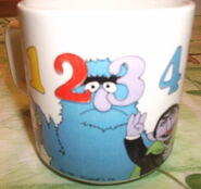 Crown lynn numbers mug 1