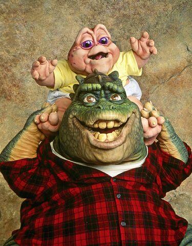 File:Dinosaurs-Earl&BabySinclair.jpg