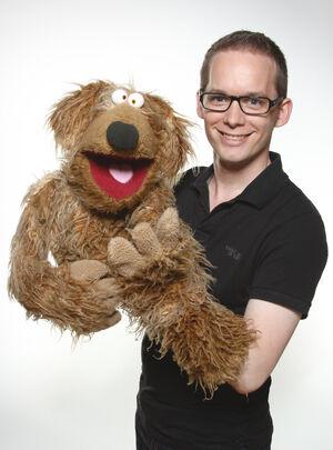 Martin Reinl with his dog Wiwaldi