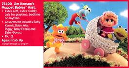 Playskool 1995 catalog muppet babies plush