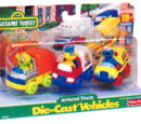 Sesame Street die-cast cars (Tyco/Fisher-Price)