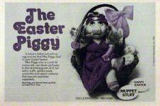 Easter Piggy doll - Muppet Stuff ad