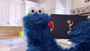 Cookie Monster on the 2020 Daytime Emmy Awards broadcast