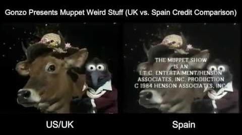 Gonzo Presents Muppet Weird Stuff Credits (US UK vs Spain Comparison)