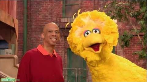 Sesame Street Kareem Abdul Jabbar and Big Bird - Subtraction