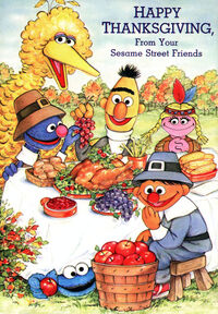 Sesame thanksgiving card 1987