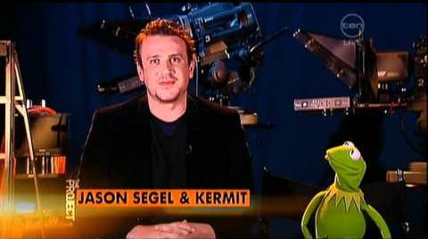 Jason Segel & Kermit the Frog interview on The Project - The Muppets