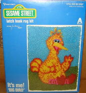 Vogart 1979 latch hook rug big bird