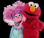 Abby and Elmo transparent