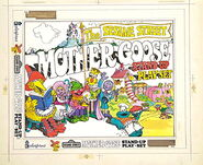 Colorforms 1978 sesame mother goose stand-up play set 6