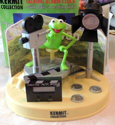 Weco uk alarm clock kermit collection talking lights camera action 1