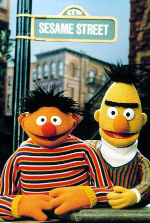 Ernie Bert Sesame sign