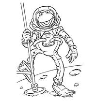 Kermit astronaut coloring book