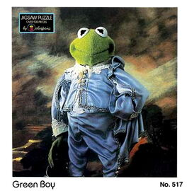 Colorforms 1985 green boy puzzle