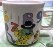 Crown lynn numbers mug 2