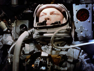 John Glenn piloting Friendship 7