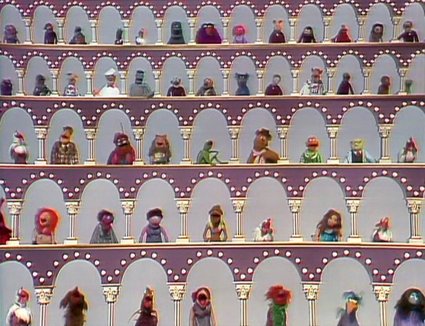 Picture of the opening of the Muppet Show