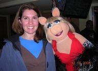 Lisa Davis and Piggy
