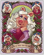 Muppets deco miss piggy giclee print 2012
