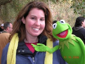Lisa Davis and Kermit