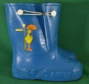 Sesame big bird rain boots 1