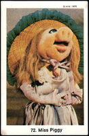 Sweden swap gum cards 72 miss piggy