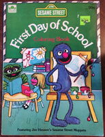 Golden 1982 first day of school coloring book