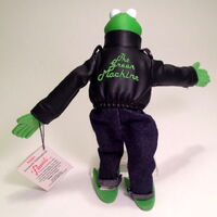 Presents 1991 kermit leather jacket muppet high plush 2