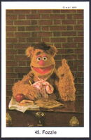 Sweden swap gum cards 45 fozzie