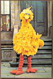 1978 ctw big bird postcard for viewer mail
