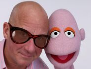 John and bald muppet