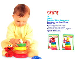 Tyco 1998 elmo stacking rings