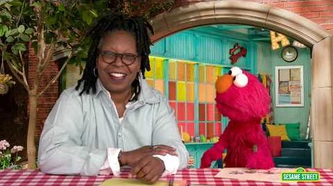 Whoopi Goldberg and Elmo Draw Picture for Pen Pal in Syria