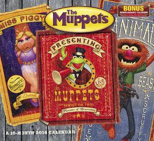 2014 Muppets calendar front