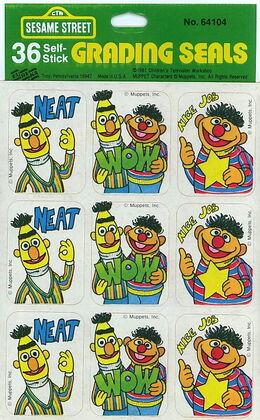Eureka 1981 sesame grading stickers teacher ernie bert