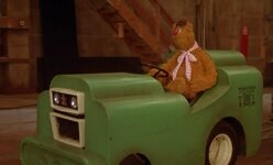 Fozzie Driving a prop car