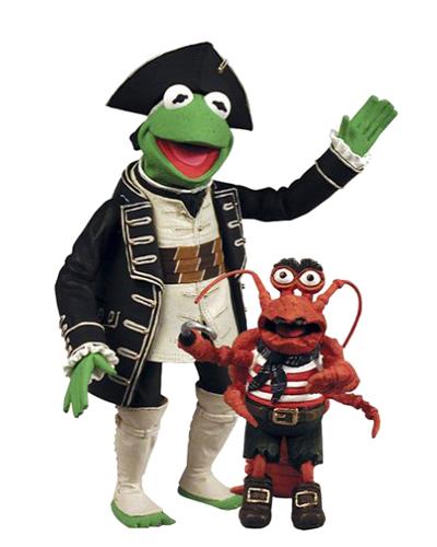 The Muppets Series 7 Action Figure Kermit as Captain Abraham Smollet