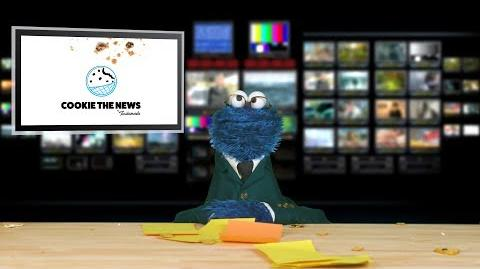Cookie Monster the News I Cookie the News