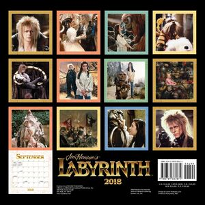 Labyrinth Calendar back