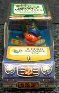 Child guidance muppet miniatures sesame pvc police car 2