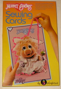Colorforms 1984 muppet babies sewing cards 1