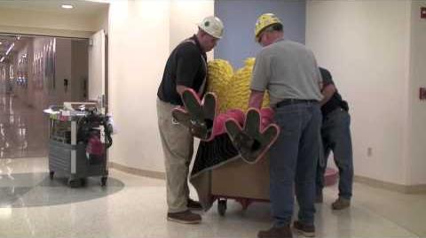 Big Bird's big move at Mott Children's Hospital
