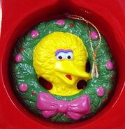 Newcor 1988 christmas ornament wreath big bird