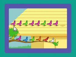PWMS Pigeonpattern pinkandgreen