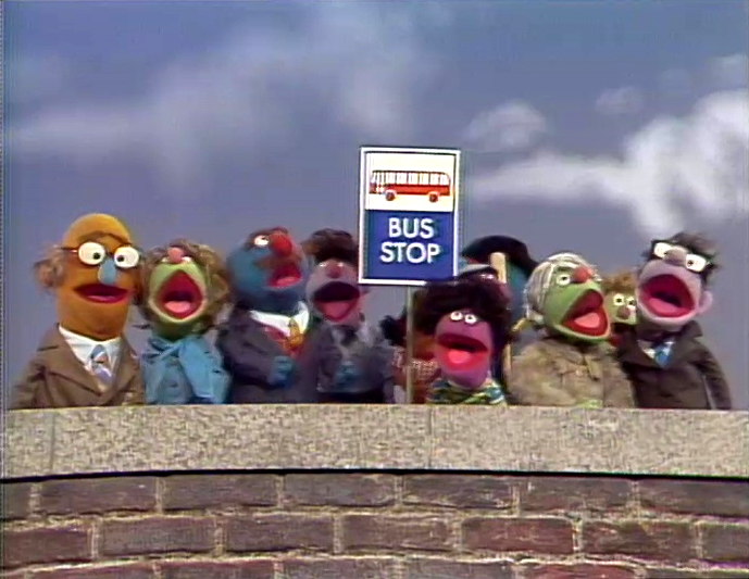At the Bus Stop Sign | Muppet Wiki | FANDOM powered by Wikia