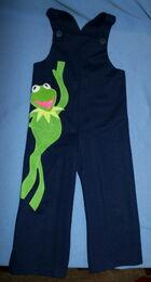 Danskin 1977 romper bib pants kermit navy blue 1