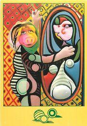 Kermitage postcard piggy picasso