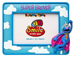 Sesame place frame super grover