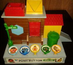 Child guidance push button sesame street